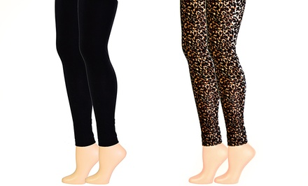 2-Pack of Velvet Leggings