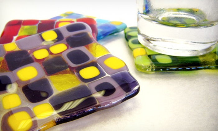 The Mud Shack - Montgomeryville: 90-Minute BYOB Fused-Glass-Making Class with Supplies for Two, Four, or Six at The Mud Shack (Up to 54% Off)