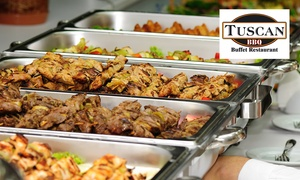 Tuscan BBQ Groenkloof: All you can Eat Buffet from R220 for Two at Tuscan BBQ Groenkloof (37% Off)