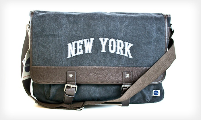 Vintage New York Messenger Bag: $59 for a Blue Marlin New York Messenger Bag ($130 List Price). Free Shipping.