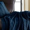 100% Cotton Cable Knit Decorative Pillow