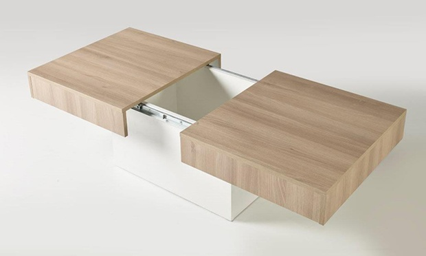 sliding top storage coffee table groupon goods. Black Bedroom Furniture Sets. Home Design Ideas