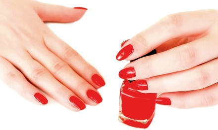 $42 for a Gelish Manicure with a Sugar Scrub and Paraffin Treatment at Golden Hair and Nails ($85 Value)