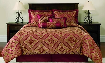 7-Piece Santiago Jacquard Comforter Set