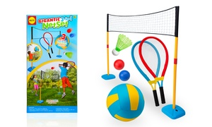 Gigantic 3-in-1 Outdoor-Games Net Set