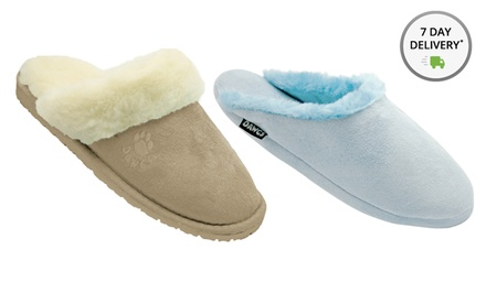 Dawgs Women's Microfiber Scuff or Foam Slide Scuff. Multiple Colors Available. Free Returns.