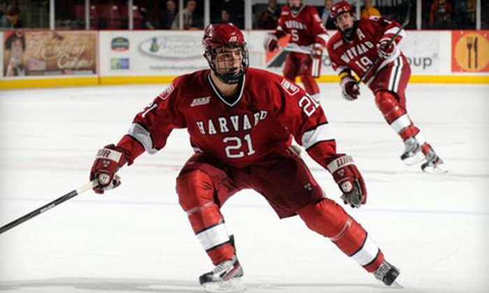 Harvard Men's Hockey vs. Yale - North Allston: Two Tickets to Harvard Men's Hockey vs. Yale at Bright Hockey Center on March 9 or 10 at 7 p.m. (Up to Half Off)