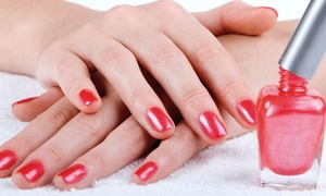Southwest Salon: Shellac Spa Manicure with Polish Removal, or a Spa Mani-Pedi at Southwest Salon (Up to 50% Off)