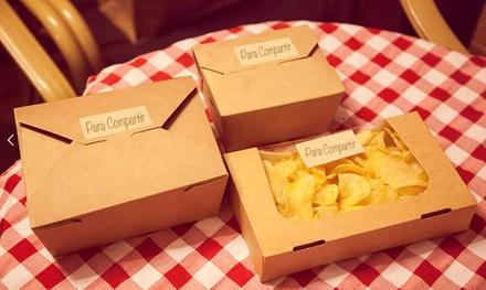 Una Lunch Box por persona para 10, 20 o 30 con envío gratuito dentro de la M-30 desde 69,95 € en Be Chic Catering