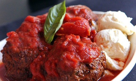 Up to 50% Off at Italian Food at Meatball Room. Two Options Available.