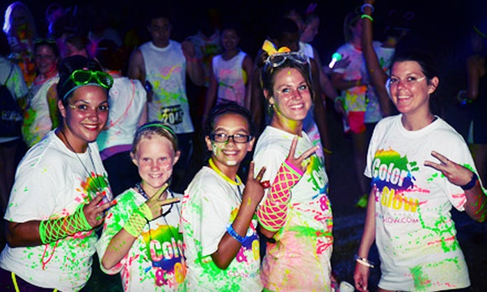 Color and Glow Run - Brockton: $25 for 5K Race Entry with a T-Shirt and Glow Gear at Color and Glow Run on Saturday, September 14 (Up to $50 Value)