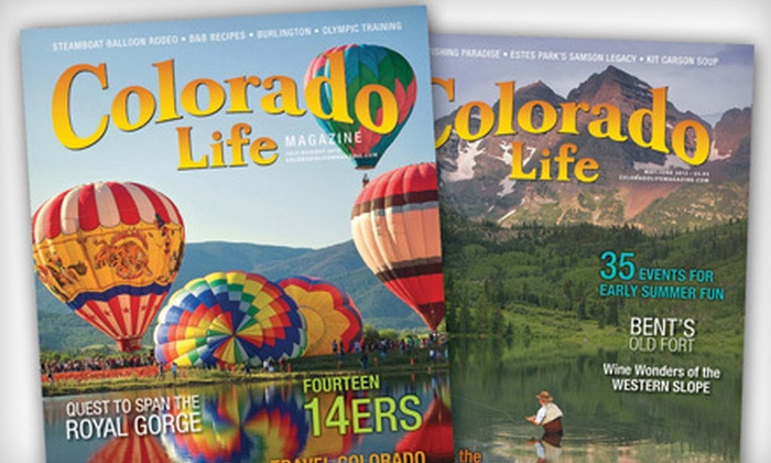 "Colorado Life Magazine - Colorado Springs: $10 for a One-Year Subscription to ""Colorado Life Magazine"" ($21 Value)"