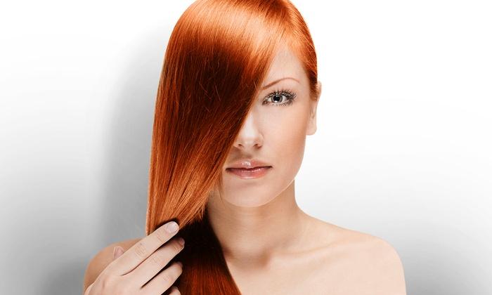 Primp Salonbar - Crabtree Valley Mall: Haircut with Optional Partial Highlights, or Keratin Treatment at Primp Salonbar (Up to 77% Off)