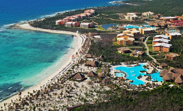 TripAlertz wants you to check out ✈ 6- or 7-Night Grand Palladium Riviera Resort & Spa Stay with Airfare. Price per Person Based on Double Occupancy. ✈ All-Inclusive Grand Palladium Stay w/ Air from Vacation Express - All-Inclusive Mexico Vacation