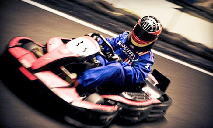 Grand Prix New York - Mount Kisco: Go-Karting and Gaming Package with Two Races for an Adult, Teen, or Child at Grand Prix New York (Up to 57% Off)