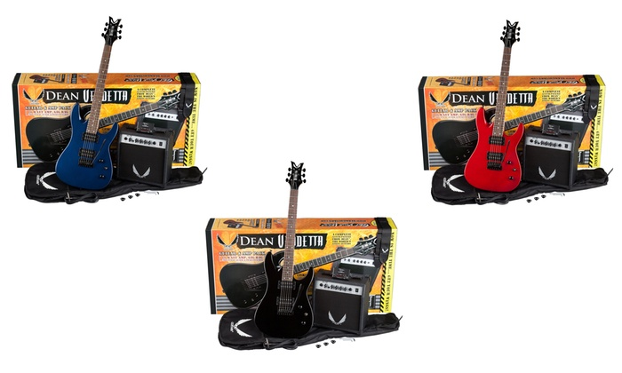 Dean Guitars Vendetta XM Tremolo Electric Guitar Bundle with Amp and Gig Bag