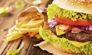 Jaxx's Pub & Grill: Burgers, Drinks, and Other Pub Fare at Jaxx's Pub & Grill (Up to 43% Off). Two Options Available.