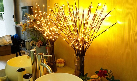 Willow Branch Decorative LED Lamp with 20 Bulbs