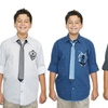 Drill Boys' Fancy Shirt with Tie