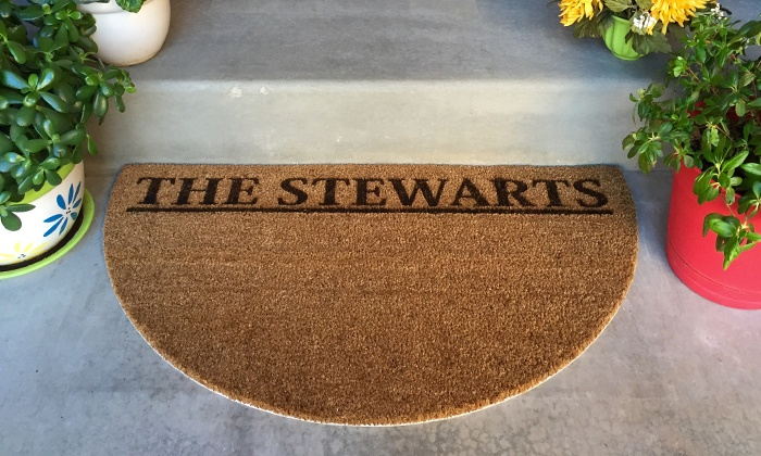 American Laser Crafts: One or Two Personalized Doormats