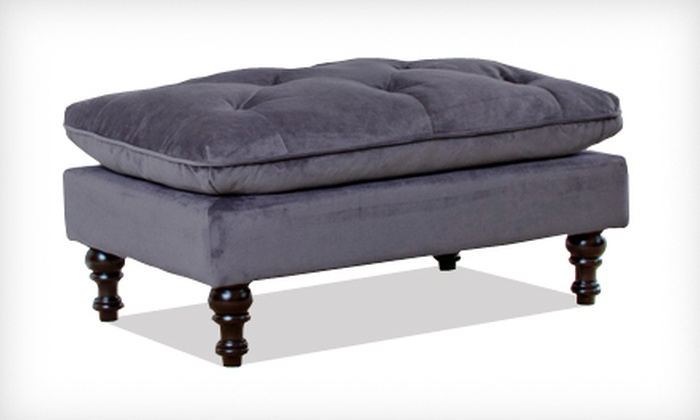 Doyle Gray Tufted Ottoman: $79 for a Doyle Gray Tufted Ottoman ($149.99 List Price). Free Shipping.