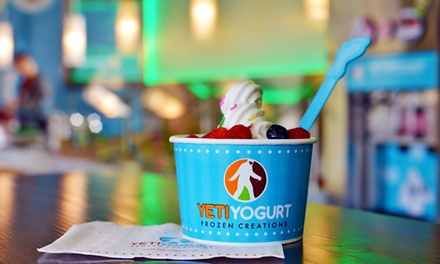 $12 for Four Groupons, Each Good for $5 Worth of Frozen Yogurt at Yeti Yogurt ($20 Total Value)
