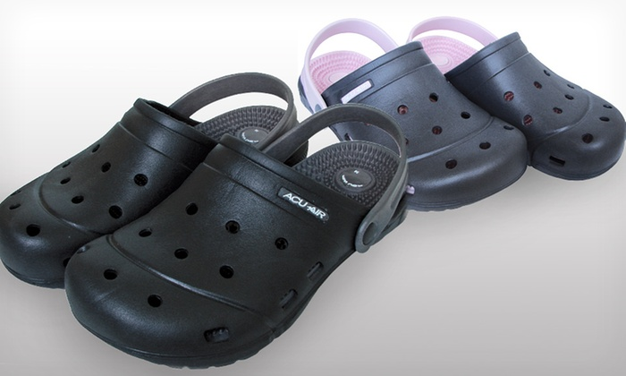 Acupressure Sandals for Women: $9.99 for One Pair of Acupressure Sandals for Women in Pink/Gray or Black/Gray ($20 List Price). Free Returns.