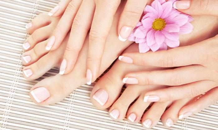 La'Sonia Nicole's Salon and Spa - Elkridge: One or Three Classic Manicures and Pedicures at La'Sonia Nicole Salon and Spa (Up to 58% Off)