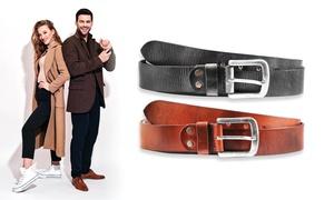 1 ou 2 ceintures en cuir unisexe Leonardo Verrelli