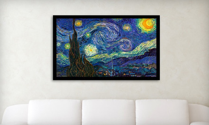 "$69 for a 30""x40"" Framed Art Masterpiece Including Van Gogh, Monet, and Klimt ($275 List Price). 6 Options Available. Free Shipping."
