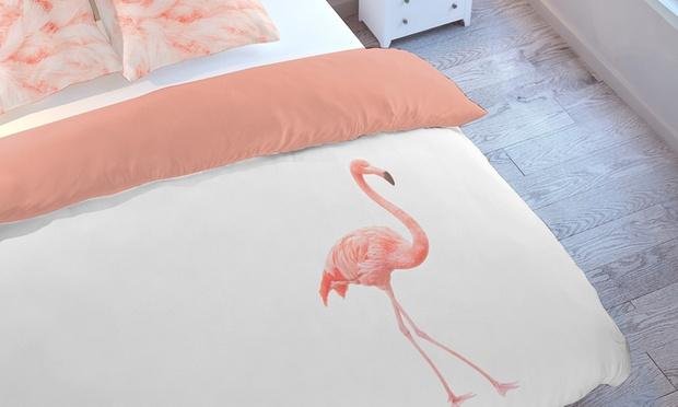 housses de couette imprim animal groupon. Black Bedroom Furniture Sets. Home Design Ideas