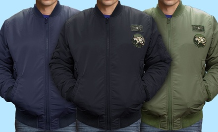 Flight Jacket in Black, Green, or Navy