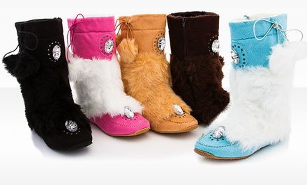 Rasolli Kathy Fur Moccasin Boot. Multiple Colors Available.