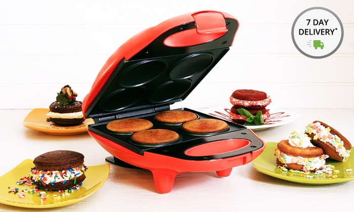 Whoopie Pie Maker: Whoopie Pie Maker with Spatula and Recipes in Blue or Coral. Free Returns.