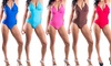 La Mode Women's One-Piece Cutout Bathing Suits in Junior Sizes: La Mode Women's One-Piece Cutout Bathing Suits in Junior Sizes