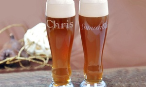 Monogram Online: 11- or 21-Ounce Personalized Pilsner Glass from Monogram Online (Up to 83% Off)