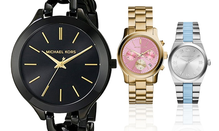 Michael Kors Watches Deals: 50 to 90% off deals on Groupon Goods.
