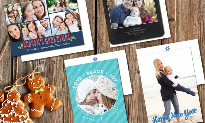 "Staples: 25, 50, or 100 5"" x 7"" Flat Signature Holiday Cards/Invitations from Staples (Up to 54% Off)"