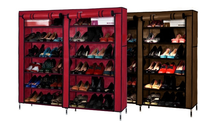 SkyTone General Trading LLC: One (AED 79) or Two (AED 129) Double-Door Shoe Racks