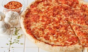 Turn 4 Pizza: Dinner for Two or Family Dinner for Pick-Up or Delivery from Turn 4 Pizza (Up to 48% Off)