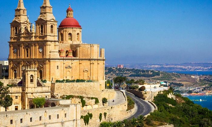 Liu Travel: ✈ Malta:  volo A/R da Roma o Milano e fino a 7 notti in hotel a 4* in formula roulette per 1 persona