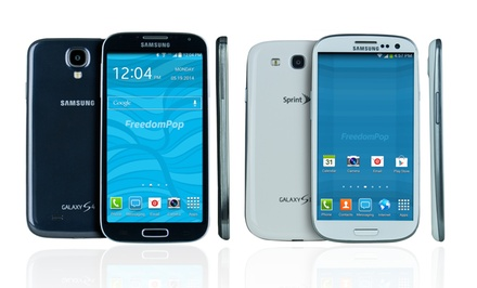FreedomPop Free Mobile Phone Service with Samsung Galaxy S2, S3, or S4 from $59.99–$279.99 (Certified Pre-Owned)