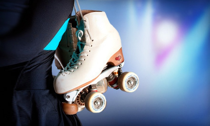Dreamland Skate Center and Skater's Choice - Multiple Locations: Roller Skating or Laser Tag for Two or Four with Pizza at Dreamland Skate Center and Skater's Choice (Up to 65% Off)