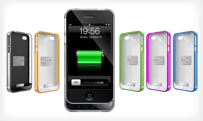 Mota iPhone 4/4S and 5 Extended-Battery Case: Extended-Battery iPhone Case 4/4S or 5 (Up to 57% Off). 7 Colors Available. Free Shipping and Returns.