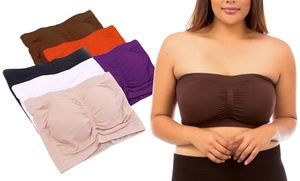 6-pack Padded Shaping Bandeau Tube Bra In Regular Or Plus Size