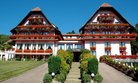 Elzas: Satin tweepersoonskamer met ontbijt en naar keuze diner in hôtel des Vosges voor 2 personen