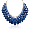 Royal Blue Sapphire Crystal Statement Necklace