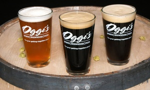 Oggi's Pizza and Brewing Co.: Pizza and Craft Beers, Valid Sunday–Thursday or Any Day at Oggi's Pizza and Brewing Co. (40% Off)
