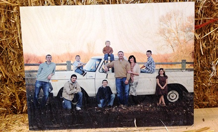 $50 for $100 Toward Photographs Printed on Wood from The Wooden Canvas