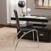 Kurt Brown Leather Convertible Storage Ottoman and Desk